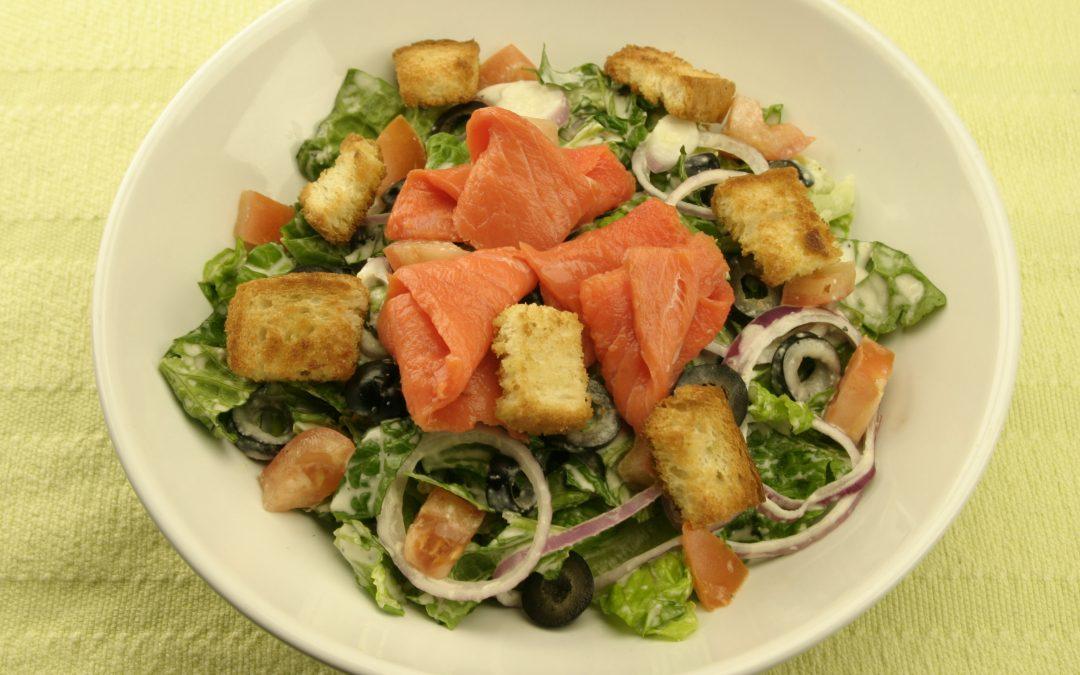 Vita Smoked Salmon Caesar Salad