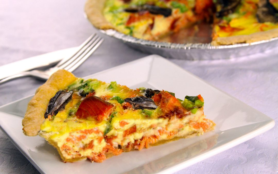 Smoked Salmon & Goat Cheese Quiche